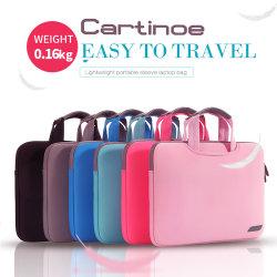 Портативный ноутбук сумки через плечо 11 12 13 14 15,6 дюйма ЭБУ подушек безопасности с помощью строп Мужчины Женщины Messenger чехол для MacBook Air PRO 13 15