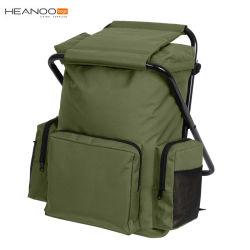 Pack Combo portátil Camping Cadeira de pesca mochila com fezes.
