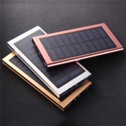 De draagbare Lader van de Batterij van de Legering van het Aluminium van de Bank van de ZonneMacht Uiterst dunne 8000mAh Externe voor Slimme Mobiel