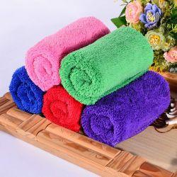 30*30cmの正方形の珊瑚の羊毛手の表面タオル