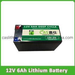 18650 portátil 12V 6Ah LiFePO4 batería recargable