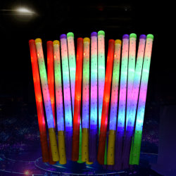Varios LED de color Glow Light de plástico Stick bastón