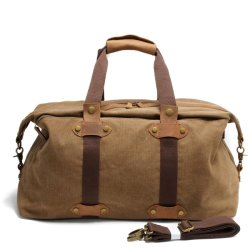 Мода дизайн Canvas кожаные спорта дамской сумочке спортзал дорожная сумка (RS -9135)
