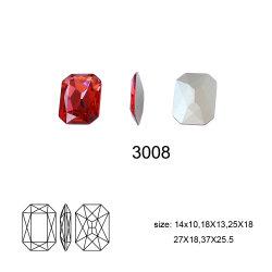 Crystal pierre colorée de l'octogone de fantaisie pour Fille robes