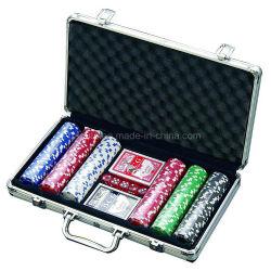 Cassa di alluminio per l'insieme della mazza di stile dei 300 dadi del chip, 2 piattaforme delle schede