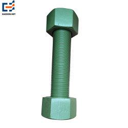 ASTM A325/A490 Heavy Hex Parafuso estrutural M22 Veda Rosca de Teflon 10,9 da Haste