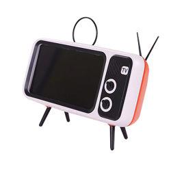 以下6インチの携帯電話の立場のためのレトロTVの青い歯のスピーカーの拡声器の携帯電話TVの小型スピーカー