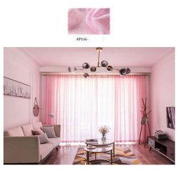Proveedor de la fábrica de lino textil impresa cortina de Voile de impresión