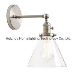 Jlw-G001 solo aplique con el embudo de vidrio cristal estalló el 1 de la sombra de la luz de lámpara de pared