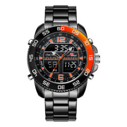 Relógios Relógios de homem de forma Digital assista à prova de quartzo relógios de qualidade Veja Relógio desportivo grossista personalizada