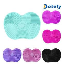 Limpiador de pincel de maquillaje de silicona elástico Scrubber Lavado de alfombra Limpieza de la placa de la herramienta de mano
