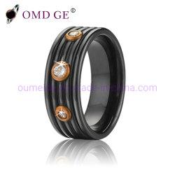 Edelstahl-schwarzer Schmucksache-Mann-Ring für Geschenk