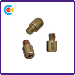 DIN/ANSI/BS/JIS Carbon-Steel/Stainless-Steel galvanizado Zinc-Plated antirrobo destornillador los tornillos de la mano de la Ronda