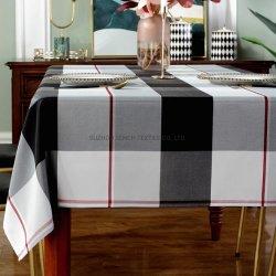 Dekking van de Lijst van de Rimpel van Spillproof van het Tafelkleed van de Polyester van de Stijl van de Plaid van het Tafelkleed van de rechthoek de Stofdichte Bestand Zwaargewicht voor het Dineren van de Keuken Tafelblad
