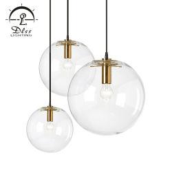 Économies d'énergie Bille de verre pour décorer la salle d'éclairage moderne Lustre