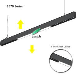 2019 Nouveau produit! Série 3570vers le haut et vers le bas LED lumière linéaire avec lentille Microprism Refector tasse ou