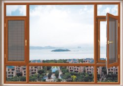 Fenêtre d'aluminium Aluminium Fenêtre à battant avec des mailles en acier inoxydable