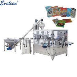 Dado rotativo Bag farinha em pó Açúcar Spice Bolsa Doypack Enchimento máquina de embalagem