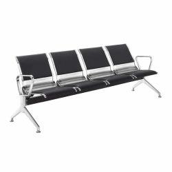 커버를 씌운 버스 스테이션 Leather Steel 2 3 4 5 seater 의료 사무실 저렴한 살롱 메탈 공항 병원 강 게스트 리셉션 팔을 가진 대기실 의자