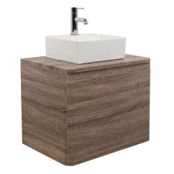 600のmmの浴室のカシの壁は虚栄心の単位の家具およびカウンタートップの洗面器の流しをハングさせた
