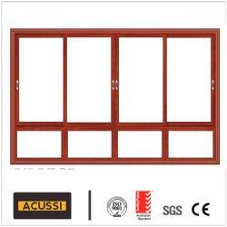 Heißes Verkaufs-Aluminium, das schalldichtes Fenster mit doppeltem ausgeglichenem Glas für Bauvorhaben schiebt