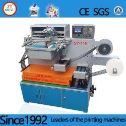 단 하나 색깔 기계를 인쇄하는 벨트 시스템을%s 가진 기계장치 면 직물 직물 인쇄 기계 실크 직물 인쇄 기계를 인쇄하는 수직 피복 레이블 스크린