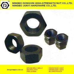 DIN934 черные фиксаторы шестигранную гайку, углеродистая сталь