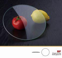 Tapa de cristal templado de tipo B sin llanta de acero inoxidable