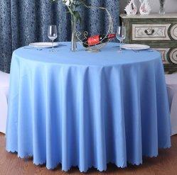 Chiffon de coton de haute qualité Table nappe blanche partie Nappe ronde