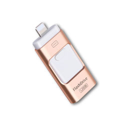 Nouveau design du lecteur Flash USB 2.0 OTG 3 en 1 Mémoire USB pour iPhone et Android