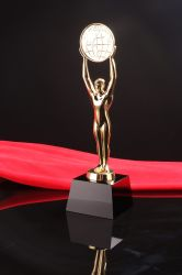 Grossist-Fertigung-Kristallglas-Oscar-Trophäe für Geschenke