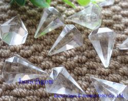 白い水晶ペンシル形状ビーズ