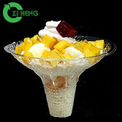 Commerce de gros jetables en plastique PET STYLE Nouveau tasse de crème glacée avec couvercles
