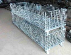 Rigida pieghevole ad alta capacità, pieghevole e pieghevole, saldata impilabile e pieghevole Stoccaggio di rete metallica in acciaio