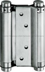 Edelstahl-doppeltes Vorgangs-Sprung-Scharnier für selbstschließend Tür