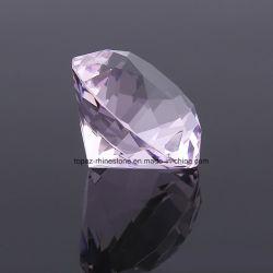 Stenen van het Kristal van de Parels van het Glas van de Grootte van de Vorm van de Diamant van het punt de AchterK9 Grote Roze zonder Gat en Plateren voor de Decoratie van het Huis (Pb-Roze)