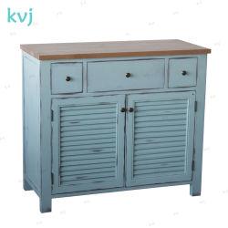 南のKvj-7524ヨーロッパ式の純木の骨董品型の浴室用キャビネット