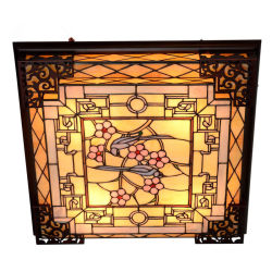 ハンドメイドのTiffany LEDの天井ランプのステンドグラスランプ