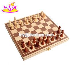 Nuevo juego de mesa más populares para la educación a los niños jugar Juego de ajedrez de madera con diseño exclusivo W11A061