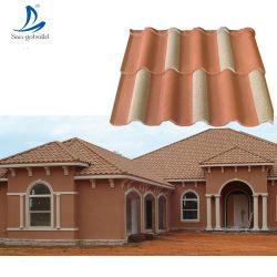 Telhas de pedra decorativa, telha de Metal Personalizado edifícios, imobiliárias de Construção de coberturas