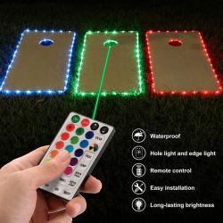 تحكم عن بعد بـ 32 مفتاحًا زينة حد سلسلة أنبوب RGB LED ضوء لعيد الميلاد في الهواء الطلق تزيين عيد القديسين