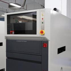 Neue SMT Hochgeschwindigkeits UV Laser Markiermaschine für die Kennzeichnung 1D Code/QRCode/Text/Symbol oder Grafik auf der Oberfläche der Leiterplattenfertigung Linie