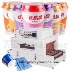 Embalagem Semiautomático Wrapper Encapamento Machine Semiautomáticos Encapamento lado retrátil do envolvedor da luva da máquina de colagem de máquina de embalagem de celofane