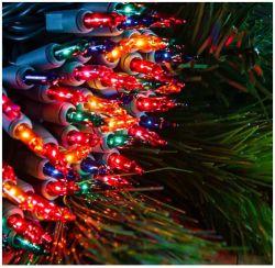 Luzes de Natal, luzes de corda mini transparentes, fio verde luzes de fadas para decorações interiores da árvore de Natal Festa de férias ao ar livre