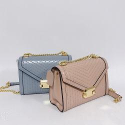 Form-echtes Leder-Frauen-Entwerfer-Luxuxhandtasche mit Nietn anpassen