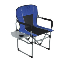 Новые голубые лучших мест для кемпинга летом Регулируемая металлическая промысел Делюкс складные походные стулья