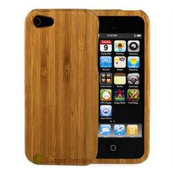 Caso di bambù di colore naturale per il iPhone 4/4s