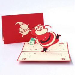 Pop-up en 3D de Noël Cadeaux Cartes Carte de voeux Cartes Postales découpé au laser