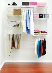 Home Roupeiro flexível fio metálico destacável de armazenagem em prateleiras e closet com revestimento Podwer Extensível