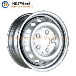 عجلة القيادة H&T 565c01t-S مخصصة 15 بوصة 15X6.0 PCD 5X130 فضية شاحنة خفيفة خفيفة ذات عجلات فولاذية